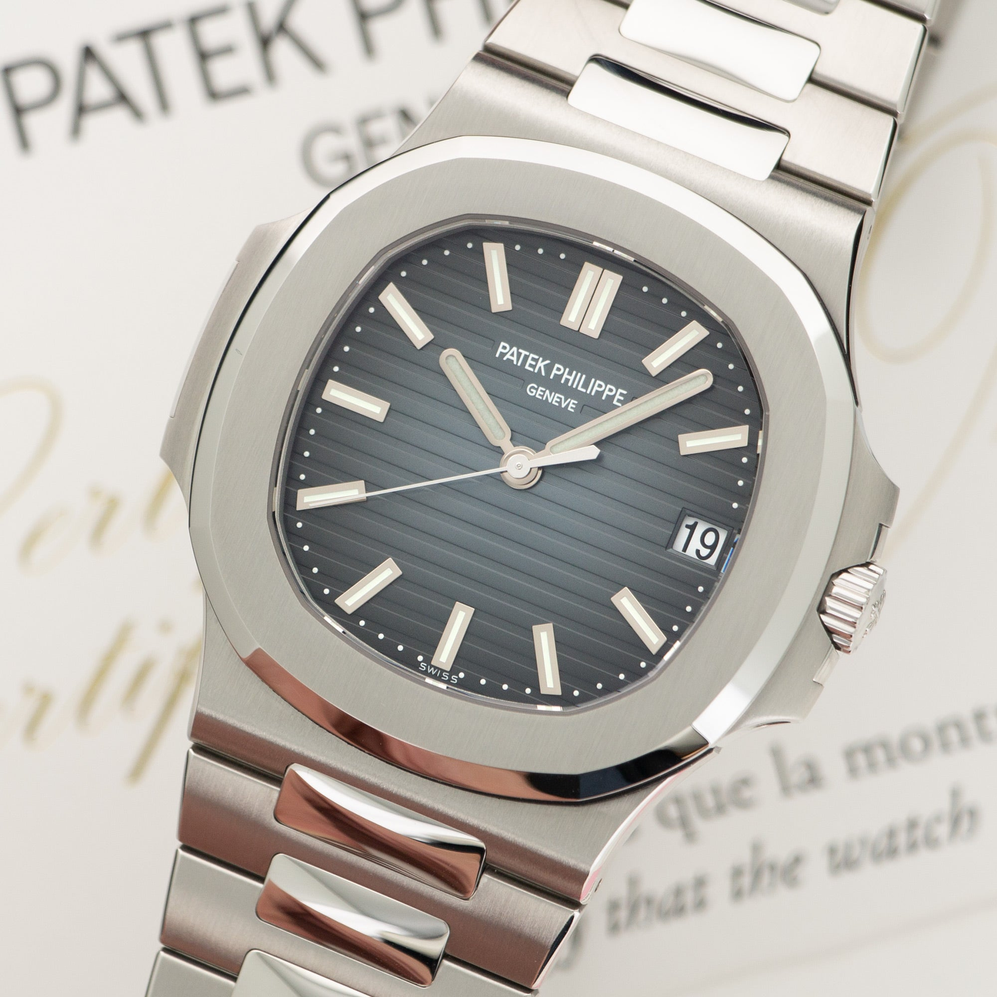 Patek Philippe Nautilus 5711/1A Steel  Like New, Worn a Few Times Gents Steel Blue 40mm Automatic 2018 Stainless Steel Original Box and Certificate