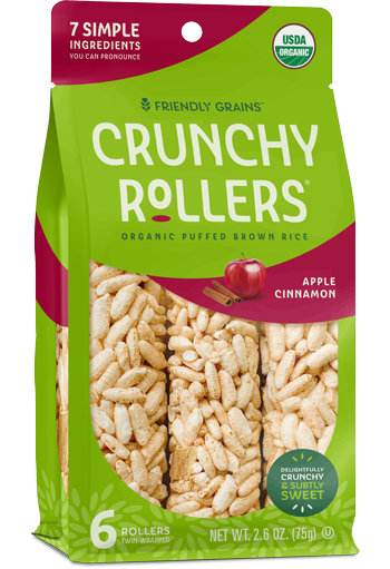 Friendly Grains - Crunchy Rollers - Apple Cinnamon