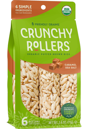 Friendly Grains - Crunchy Rollers - Sea Salt Caramel