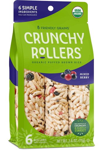 Friendly Grains - Crunchy Rollers - Mixed Berry