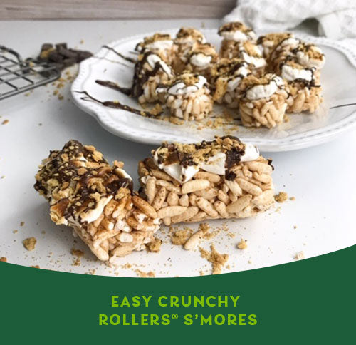 EASY CRUNCHY ROLLERS S'MORES