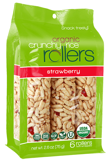 Friendly Grains - Crunchy Rollers - Strawberry