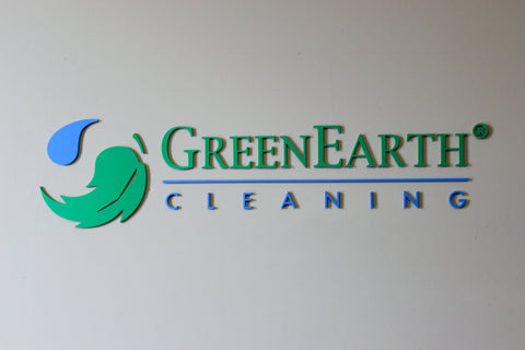GreenEarth 3D Sign Logo