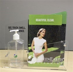 GreenEarth Counter Display with Solvent Sample Bottle