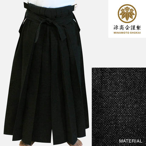[NEW] #11000 Traditional Black Cotton Aikido Hakama
