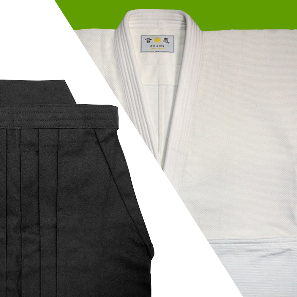 Tall Size Single Layered Gi [DX] + Black Cotton Hakama Set