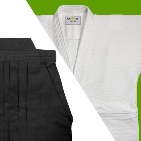 Single Layered Gi + Black Cotton Hakama Set