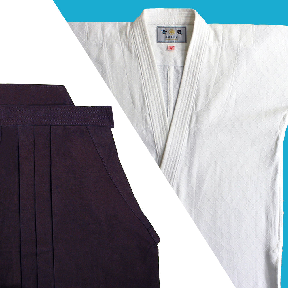 "Tall Size ""TENMA"" Ultra-lightweight Gi + Indigo Dyed Cotton Hakama Set"