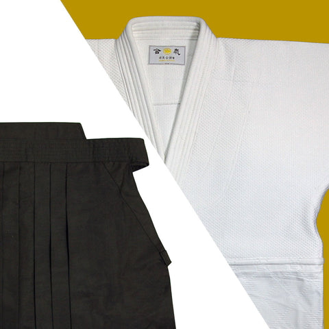 Tall Size Double Layered Gi + Dx Tetron Hakama Set