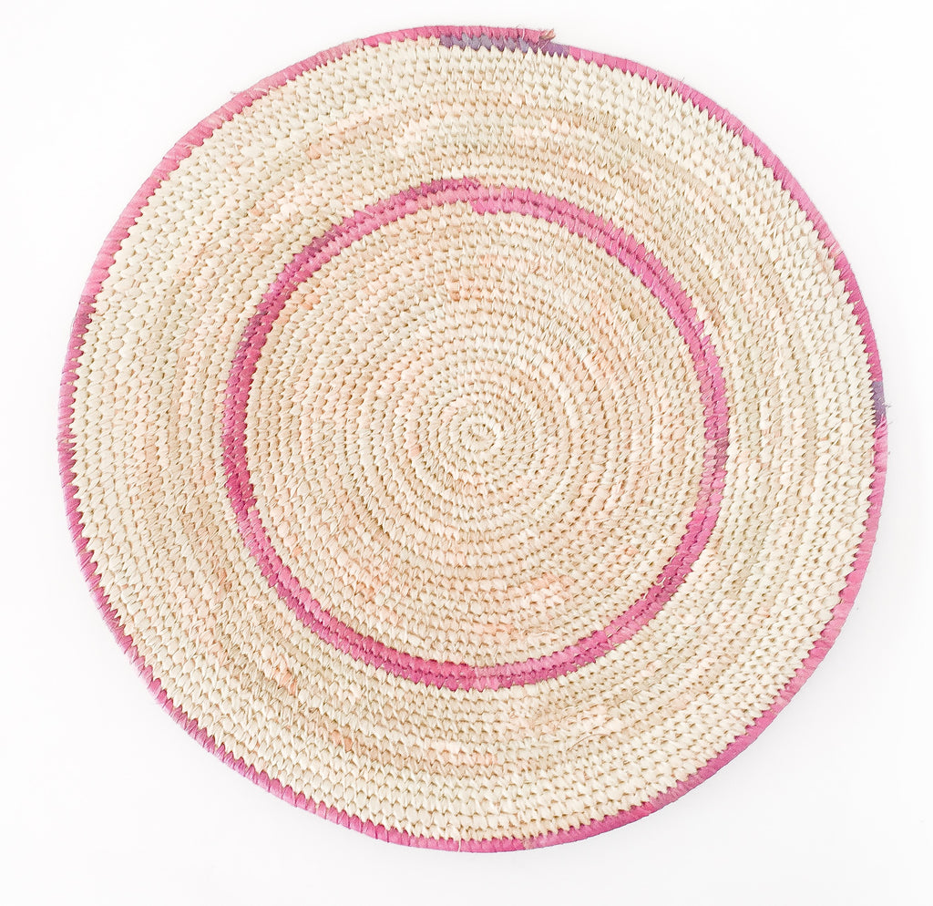 A set of 7 placemats African Hade Made Raffia Placemats African Raffia Leaves Placemats Dinner Table linen Table Decor Table Runner