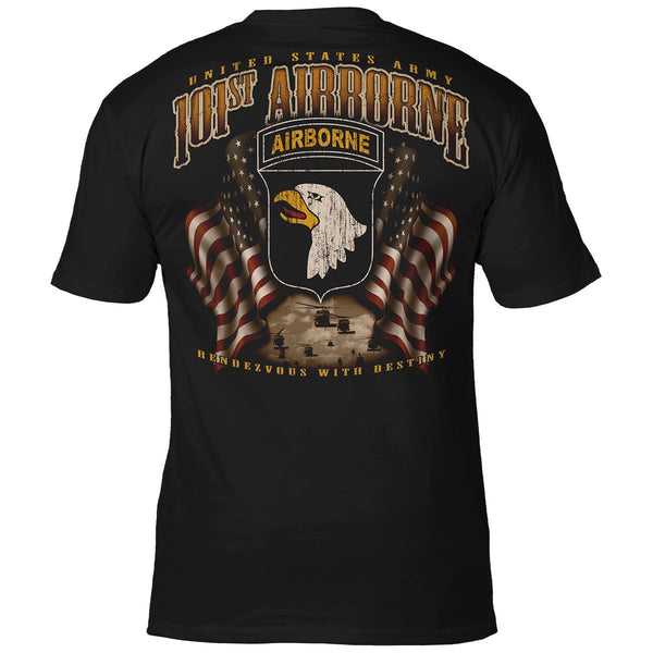U.S. ARMY 101ST AIRBORNE 'FLAGS' T-SHIRT