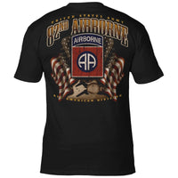 U.S. ARMY 82ND AIRBORNE FLAGS 'ALL AMERICANS' T-SHIRT
