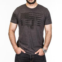 AMMO FLAG IN CHARCOAL GREY T-SHIRT by GRUNT STYLE