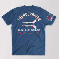 OFFICIAL USAF THUNDERBIRDS REFLECTION PASS T-SHIRT