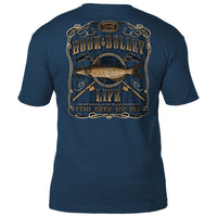 FISH FREE OR DIE TEE *  THE HOOK & BULLET LIFE OUTDOOR  COLLECTION