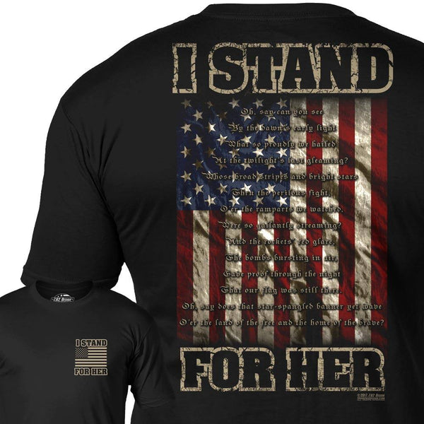 I Stand for Her T-shirt by 7.62 Design