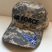 US AIR FORCE CAMO CAP - MADE IN THE USA
