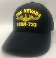 USS NEVADA SSBN-733 HAT * 100% MADE IN THE USA