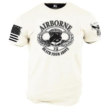 AIRBORNE, DEATH FROM ABOVE T-SHIRT by  ENLISTED RANKS