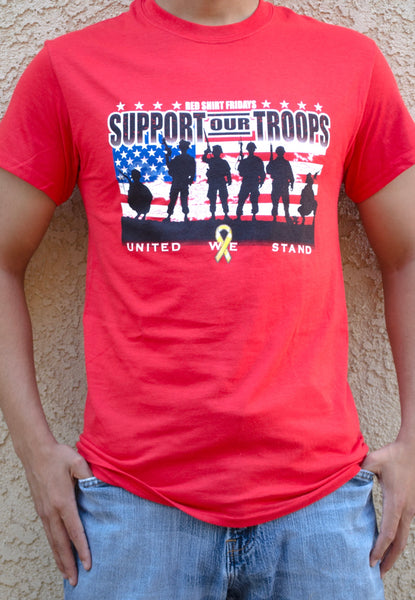 R.E.D ON FRIDAY CAMPAIGN - REMEMBER EVERYONE DEPLOYED T-SHIRT