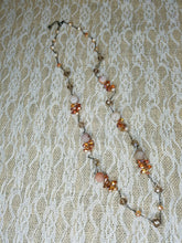 Peach geode crystal necklace