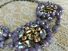 Amelia Lavender crystal statement necklace