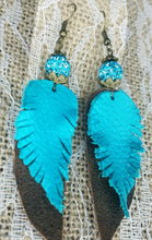 Crystal ball feather earrings
