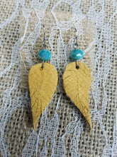 Deerskin leather feather earrings 2 inches
