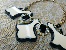 Creme and black statement necklace