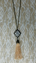 Ashley crystal tassel necklace