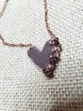 Petite boho heart necklace