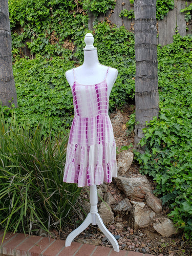 Pink tye-dye baby doll dress