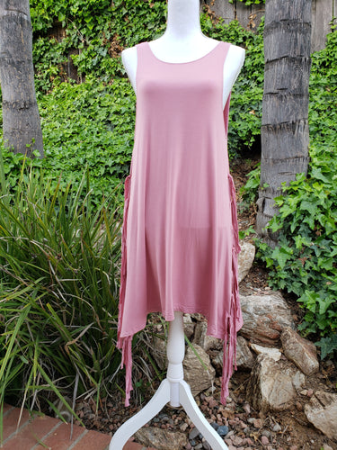 Strawberry wine fringe dress