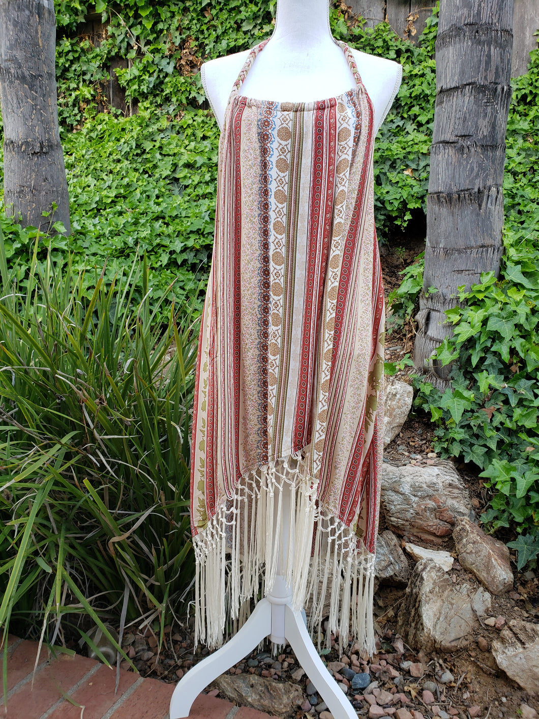 Fringe beach cover-up dress