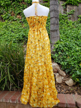 Yellow peaches maxi dress