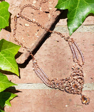 Rose gold and crystal statement necklace
