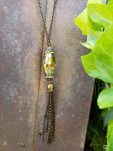 Alexa green tassel necklace