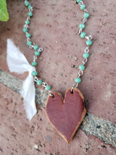 Minty Heart necklace