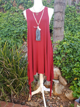 Cranberry Wine fringe dress