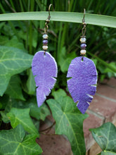 Lavender crystal dangle earrings