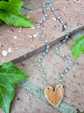 Periwinkle heart necklace