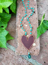 Crimson heart necklace