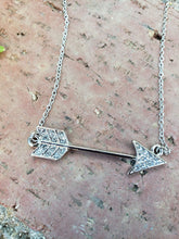 Rhinestone arrow necklace