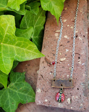 Lady bug necklace