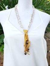 Braided bead tassel necklace