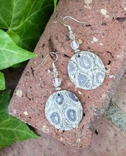 Metallic croc circle earrings