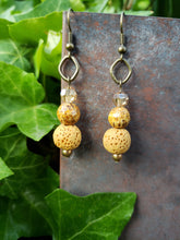Mustard lava stone earrings