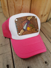 Desert sunset tooled leather hat