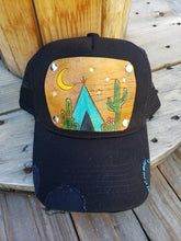 Desert dwelling tooled leather hat