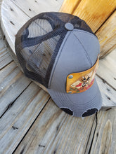 Aces tooled leather hat